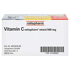 Vitamin C-ratiopharm retard 500mg 30 Stück - Unterseite