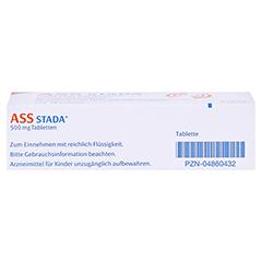 ASS STADA 500mg 30 Stück N2 - Unterseite