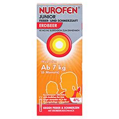 Nurofen Junior Fieber- & Schmerzsaft Erdbeer 40 mg/ml 100 Milliliter N1 - Vorderseite