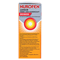 Nurofen Junior Fieber- & Schmerzsaft Erdbeer 40 mg/ml 100 Milliliter N1 - Linke Seite