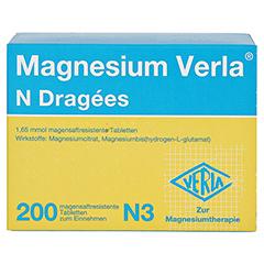 Magnesium Verla N Dragees 200 Stück N3 - Rückseite