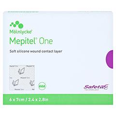 MEPITEL One 6x7 cm Silikon Netzverband 5 Stück - Vorderseite