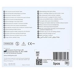MEPITEL One 6x7 cm Silikon Netzverband 5 Stück - Rückseite