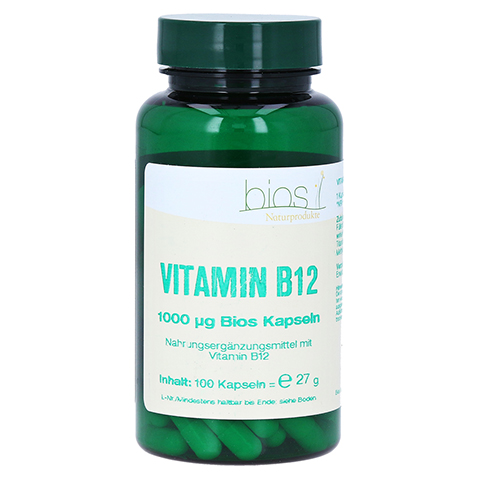 VITAMIN B12 1000 µg Bios Kapseln 100 Stück