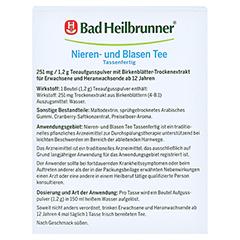 BAD HEILBRUNNER Nieren- und Blasen Tee tassenfert. 10x1.2 Gramm - Rückseite