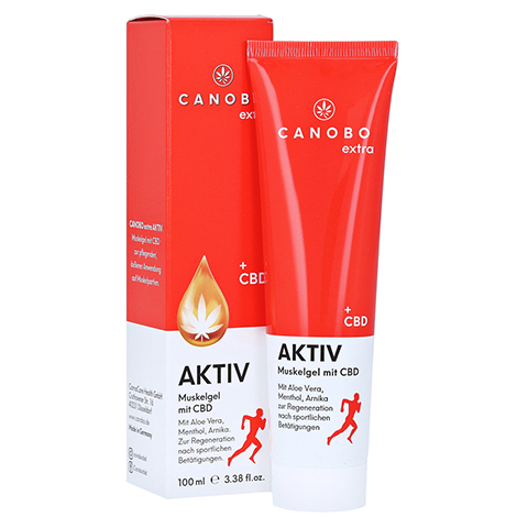 CANOBO extra AKTIV Muskelgel mit CBD 100 Milliliter
