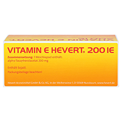 VITAMIN E HEVERT 200 I.E. Weichkapseln 100 Stück N3 - Oberseite