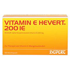 VITAMIN E HEVERT 200 I.E. Weichkapseln 100 Stück N3 - Vorderseite