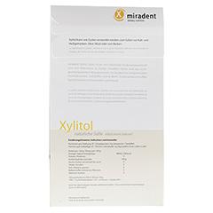 MIRADENT Zuckerersatz Xylitol Pulver 350 Gramm - Rückseite