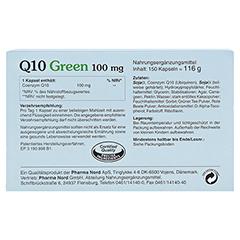 Q10 GREEN 100 mg Kapseln 150 Stück - Rückseite
