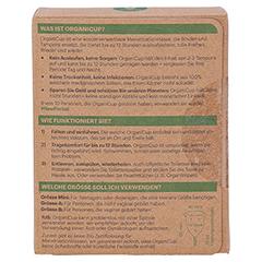 ORGANICUP Menstruationstasse 25 ml Gr.A 40x65mm 1 Stück - Rückseite