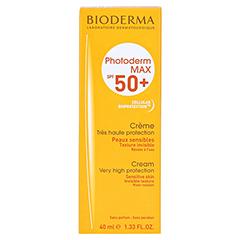 BIODERMA Photoderm Max Creme SPF 50+ ungetönt + gratis BIODERMA Sensibio Gel 45 ml 40 Milliliter - Vorderseite