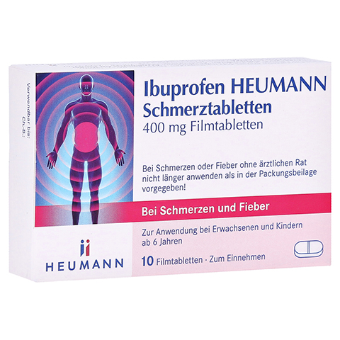 Ibuprofen Heumann Schmerztabletten 400mg 10 Stück N1