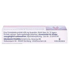 Ibuprofen Heumann Schmerztabletten 400mg 10 Stück N1 - Unterseite