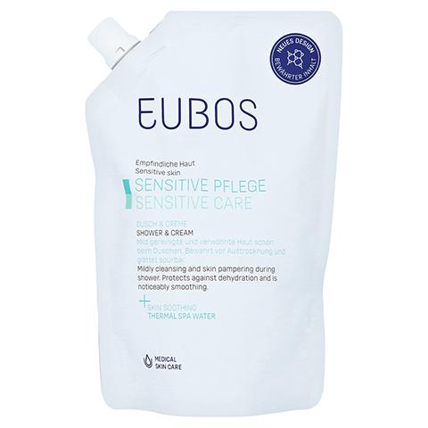 Eubos Sensitive Dusch & Creme Nachfüllbeutel 400 Milliliter