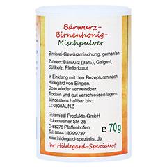 BÄRWURZ-BIRNENHONIG Mischpulver 70 Gramm - Rechte Seite