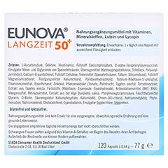 EUNOVA Langzeit 50+ Kapseln 120 Stück - Rückseite