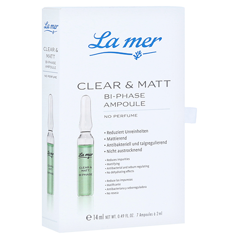 LA MER Ampulle Clear & Matt o.Parfum 7x2 Milliliter