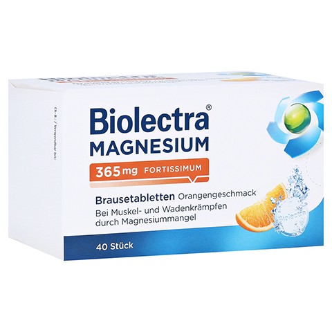 Biolectra Magnesium 365mg fortissimum Orange 40 Stück