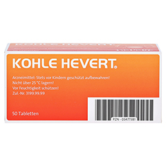 Kohle-Hevert 50 Stück - Unterseite