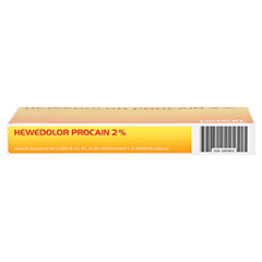HEWEDOLOR Procain 2% Ampullen 10 Stück N1 - Unterseite