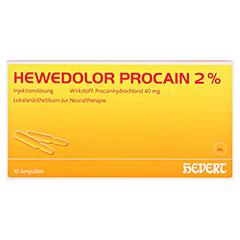 HEWEDOLOR Procain 2% Ampullen 10 Stück N1 - Vorderseite