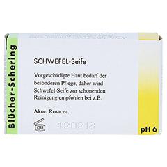 Schwefel Seife Blücher Schering 100 Gramm - Rückseite