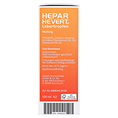 HEPAR HEVERT Lebertropfen 100 Milliliter N2 - Linke Seite