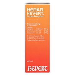 HEPAR HEVERT Lebertropfen 100 Milliliter N2 - Rechte Seite
