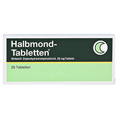 Halbmond-Tabletten 50mg 20 Stück N2 - Vorderseite