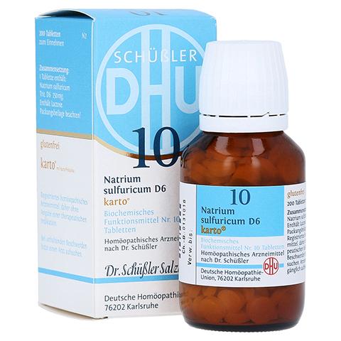 BIOCHEMIE DHU 10 Natrium sulfuricum D 6 Tab.Karto 200 Stück N2
