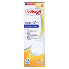 Corega Tabs 3 Minuten 66 Stück - Linke Seite