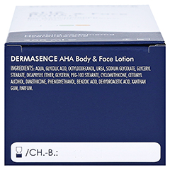 Dermasence AHA body and face Lotion 200 Milliliter - Unterseite