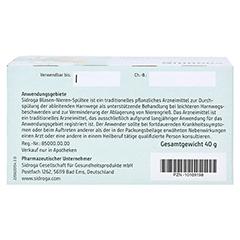 SIDROGA Blasen-Nieren-Spültee Filterbeutel 20x2.0 Gramm - Unterseite
