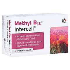 METHYL B12-Intercell magensaftresistente Kapseln 90 Stück