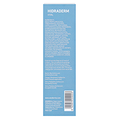 HIDRADERM Hyal Gesichtscreme 50 Milliliter - Rückseite