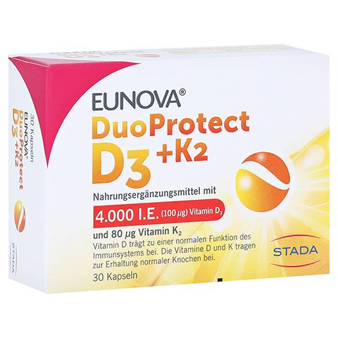 Eunova Duoprotect D3+k2 4000 I.E./80 µg Kapseln 30 Stück