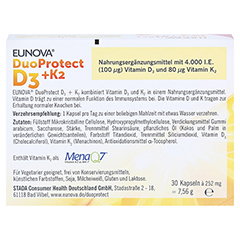 Eunova Duoprotect D3+k2 4000 I.E./80 µg Kapseln 30 Stück - Rückseite