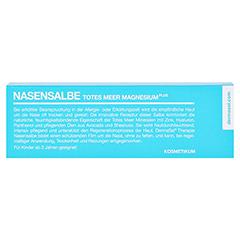 DERMASEL Therapie Totes Meer Nasensalbe 10 Milliliter - Rückseite