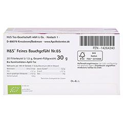 H&S Bio Baby- u.Kindertee Feines Bauchgefühl Fbtl. 20x1.5 Gramm - Unterseite