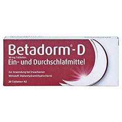 Betadorm-D 20 Stück N2 - Vorderseite