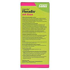 Floradix mit Eisen 250 Milliliter - Rückseite