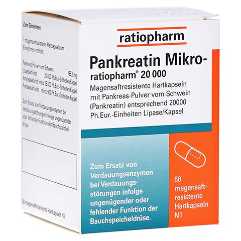 Pankreatin Mikro-ratiopharm 20000 50 Stück N1