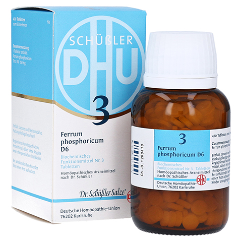 BIOCHEMIE DHU 3 Ferrum phosphoricum D 6 Tabletten 420 Stück N3