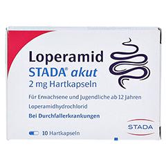Loperamid STADA akut 2mg 10 Stück N1 - Vorderseite