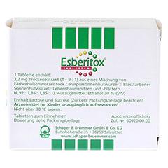 Esberitox Tabletten 200 Stück - Rückseite
