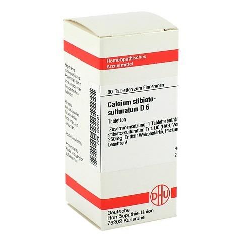 CALCIUM STIBIATO sulfuratum D 6 Tabletten 80 Stück N1