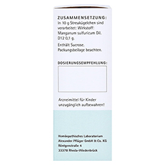 BIOCHEMIE Pflüger 17 Manganum sulfuricum D 12 Gl. 15 Gramm N1 - Linke Seite