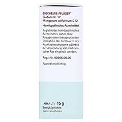 BIOCHEMIE Pflüger 17 Manganum sulfuricum D 12 Gl. 15 Gramm N1 - Rechte Seite