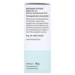 BIOCHEMIE Pflüger 23 Natrium bicarbonicum D 12 Gl. 15 Gramm N1 - Linke Seite